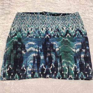 H&M Ladies Blue Textured Mini Skirt